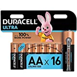 Duracell Ultra AA Mignon Alkaline Batterien LR6, 16er Pack