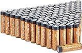 Amazon Basics AA-Alkalibatterien, leistungsstark, 1,5V, 100 Stück (Aussehen kann variieren)